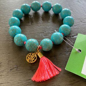 Lilly Pulitzer Seaside Aqua Beaded Bracelet NWT